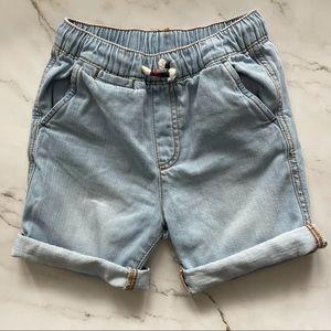 Zara boys demon drawstring elastic waist shorts 7